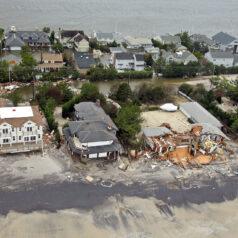 Hurricane Sandy aftermath on New Jersey Coast